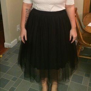 Anthro Black Tulle Skirt | Size S